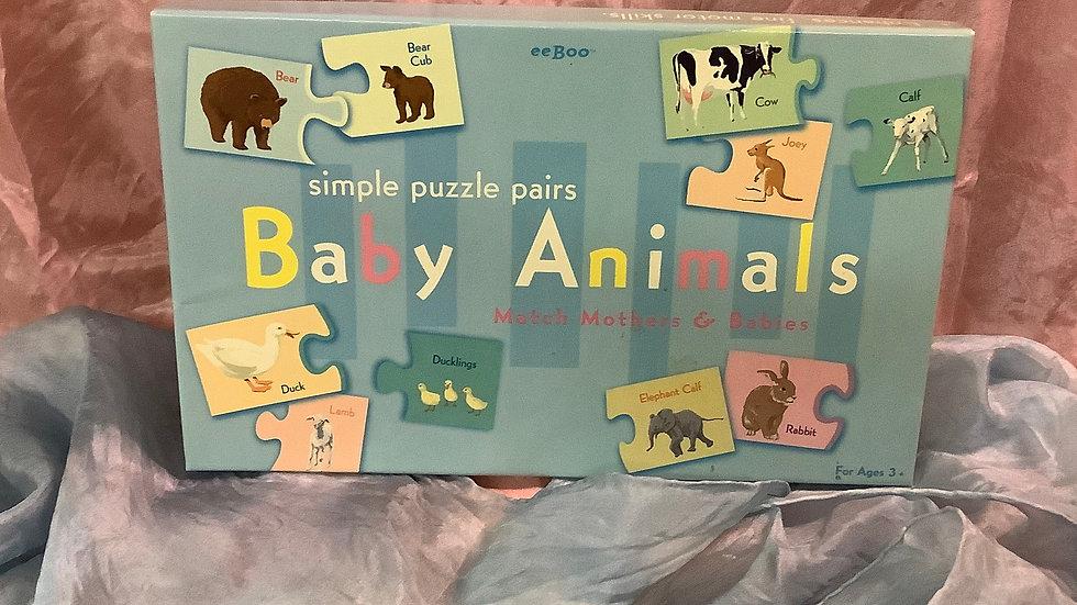 GU eeboo Baby Animals puzzle game