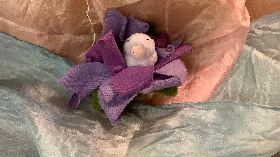 Flower petal doll