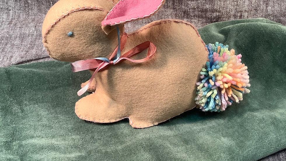 Handmade Felt Bunny (Rainbow)