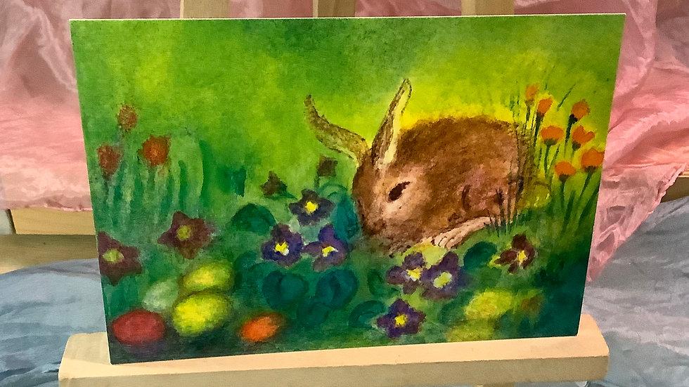 Postcard (Bunny Flowers)