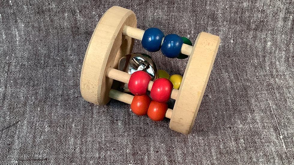 GU wooden rollie bell toy