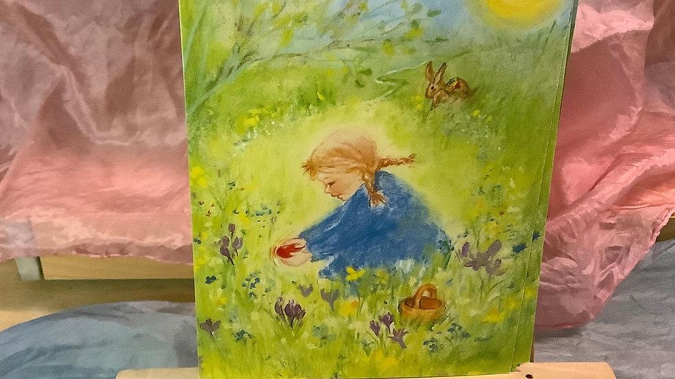 Postcard (Girl in field)