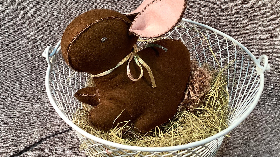 Handmade Bunny in a Basket