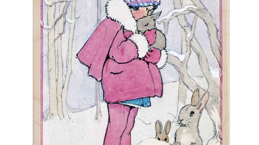 Wooden Postcard (Bunny Hug)