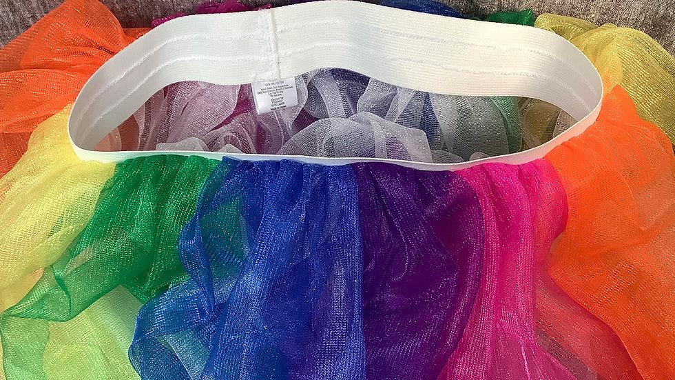 GU Rainbow tulle skirt