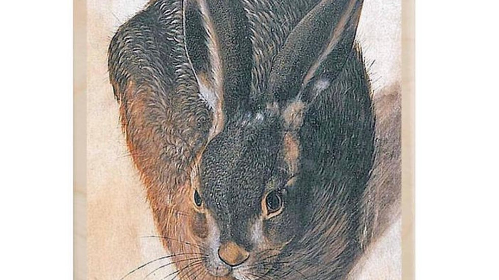 Wooden Postcard (Young Hare)