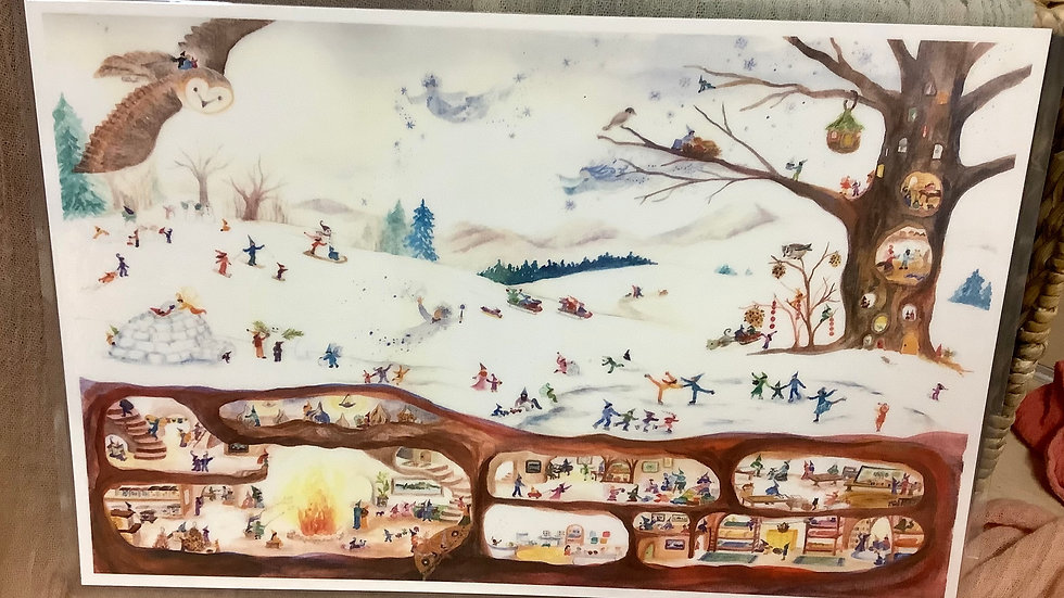 Placemat Winter Scene