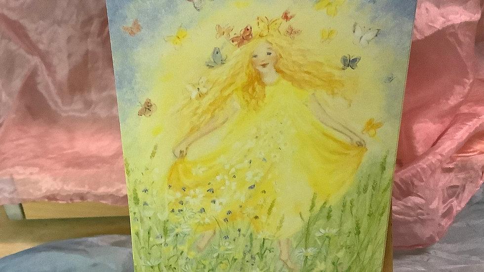 Postcard (Butterfly girl)