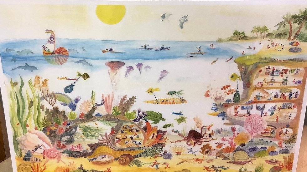 Placemat Ocean scene