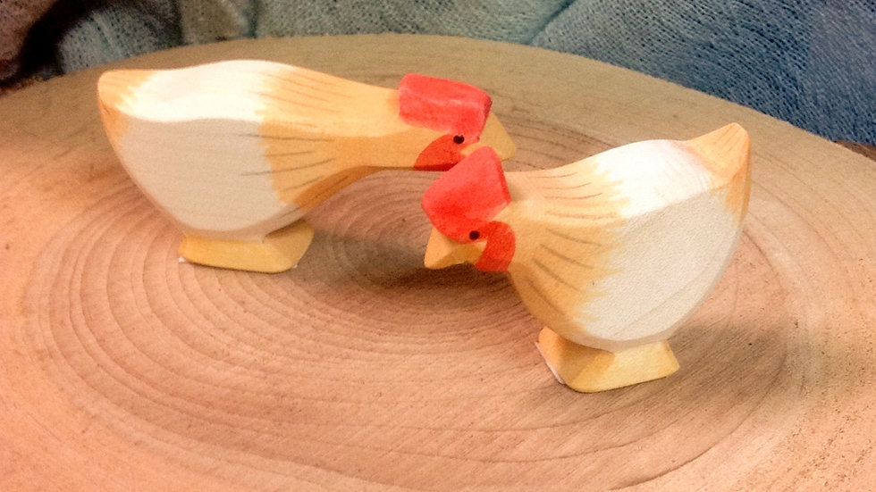 Set of Two Ostheimer Chickens