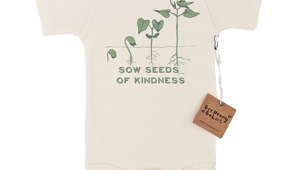 Sow Seeds of Kindness body suit 3-6mos