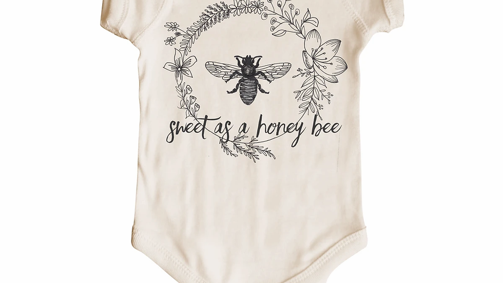 Sweet as a honey bee short sleeve body suit 6-12 mos