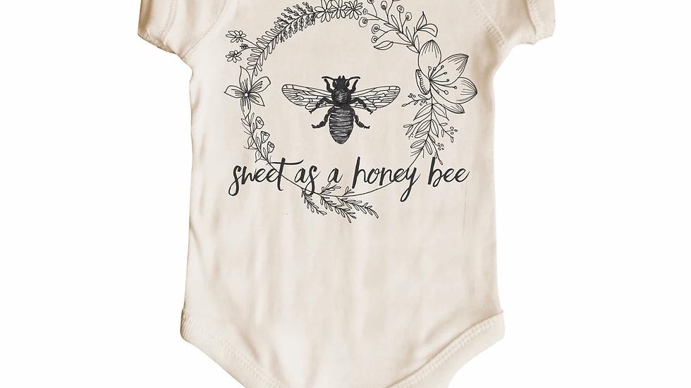 Sweet as honey bee short sleeve body suit 3-6 mos