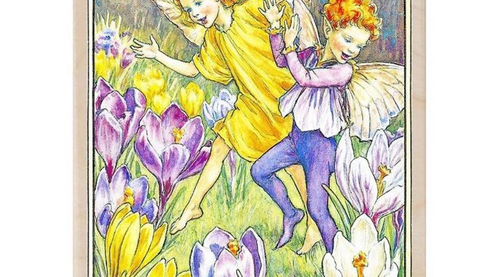 Wooden Postcard (Fairies)