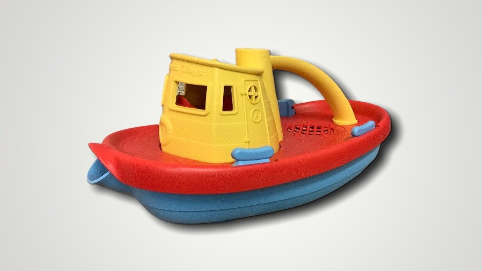 Gently Used Green Toys boat