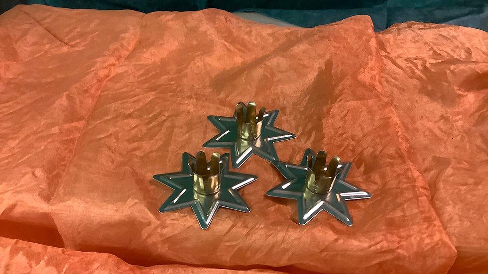 Brass Star candle holder (1)