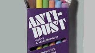 Anti-Dust colored chalk