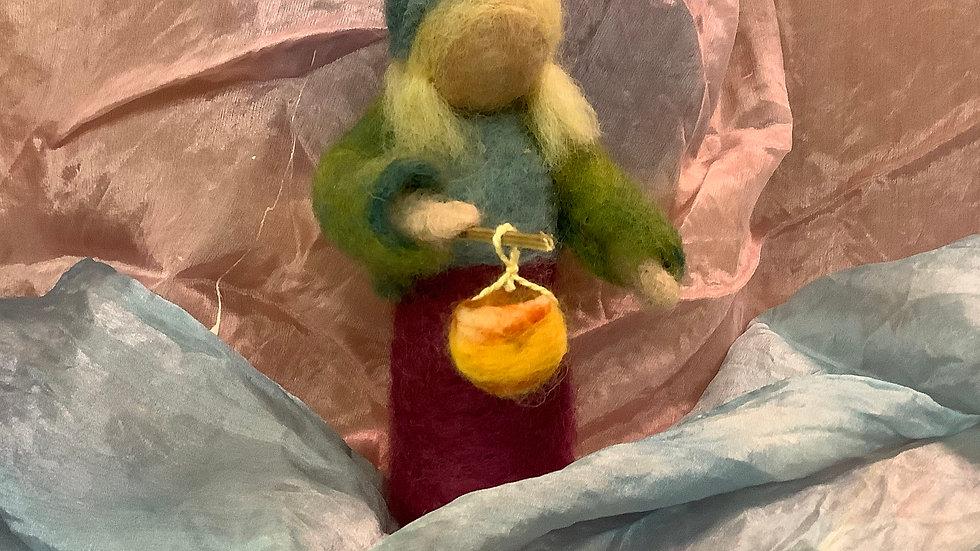 Felted Lantern Doll
