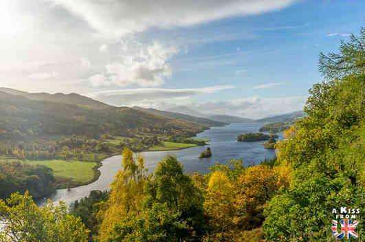 Queen's View - Roadtrip de 8 jours en Ecosse à l'automne - Itinéraire de voyage en Ecosse par A Kiss from UK, guide et blog voyage sur l'Ecosse, l'Angletere et le Pays de Galles