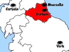 carte durham - Que voir à Durham en Angleterre ? Visiter Durham avec A Kiss from UK, le blog du voyage en Ecosse, Angleterre et Pays de Galles.