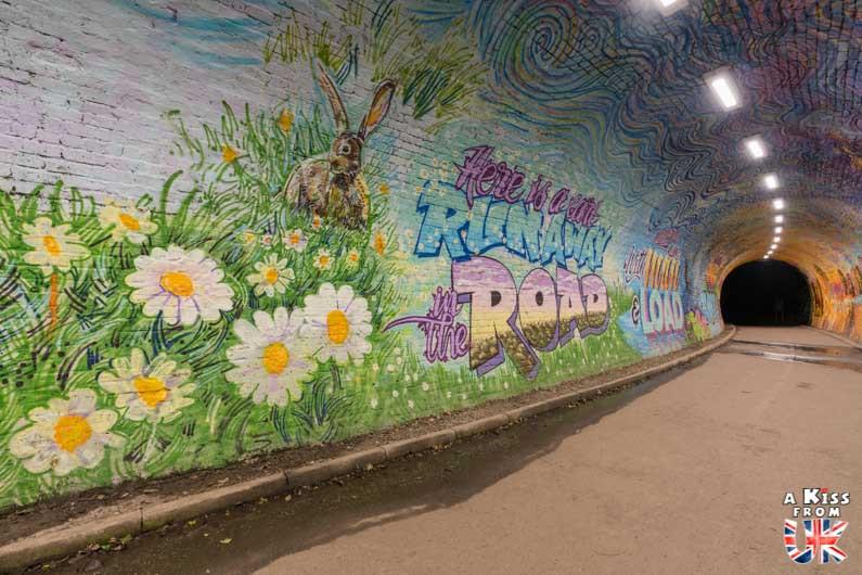 Visiter Colinton Tunnel à Édimbourg - Street Art dans les tunnels abandonnés d'Édimbourg - A Kiss from UK - guide et blog voyage sur l'Ecosse