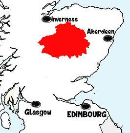 carte cairnorms Que voir dans les Cairngorms en Ecosse ? Visiter les Cairngorms avec A Kiss from UK, le blog du voyage en Ecosse, Angleterre et Pays de Galles.