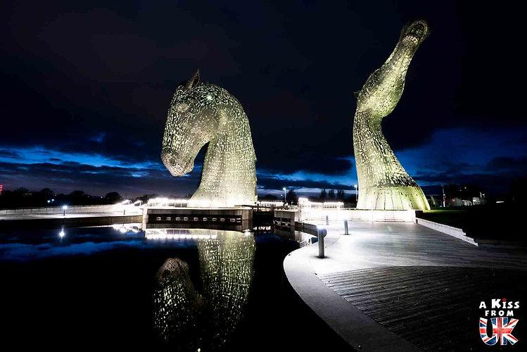 Les statues des Kelpies à Falkirk - Les choses à faire et les lieux à voir dans le Perthshire en Ecosse - Visiter le Perthshire avec A Kiss from UK, le blog du voyage en Ecosse.