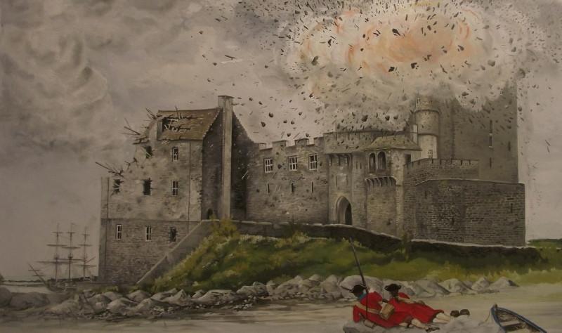 L'attaque d'Eilean Donan en 1719 - Eilean Donan Castle, la reconstruction du plus célèbre château d'Ecosse. Découvrez l'histoire du château d'Eilean Donan en Ecosse. | A Kiss From UK