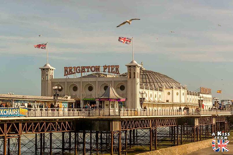 Brighton dans le Sussex - Les lieux à voir absolument en Angleterre en dehors de Londres. Découvrez quels sont les plus beaux endroits d'Angleterre et les incontournables à visiter en dehors de Londres lors de votre voyage - A Kiss from UK, le blog du voyage en Grande-Bretagne.