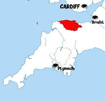 carte exmoor - Que voir dans le Parc d'Exmoor en Angleterre ? Visiter Exmoor avec A Kiss from UK, le guide & blog du voyage en Ecosse, Angleterre et Pays de Galles.