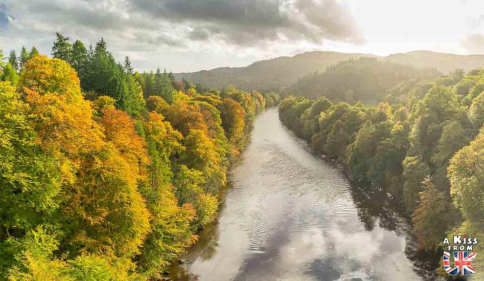 Pass of Killiecrankie dans le Perthshire - Les plus beaux paysages d'Ecosse. Découvrez quels sont les plus beaux endroits d'Ecosse et les plus belles merveilles naturelles d'Ecosse avec A Kiss from UK, le guide et blog du voyage en Grande-Bretagne.