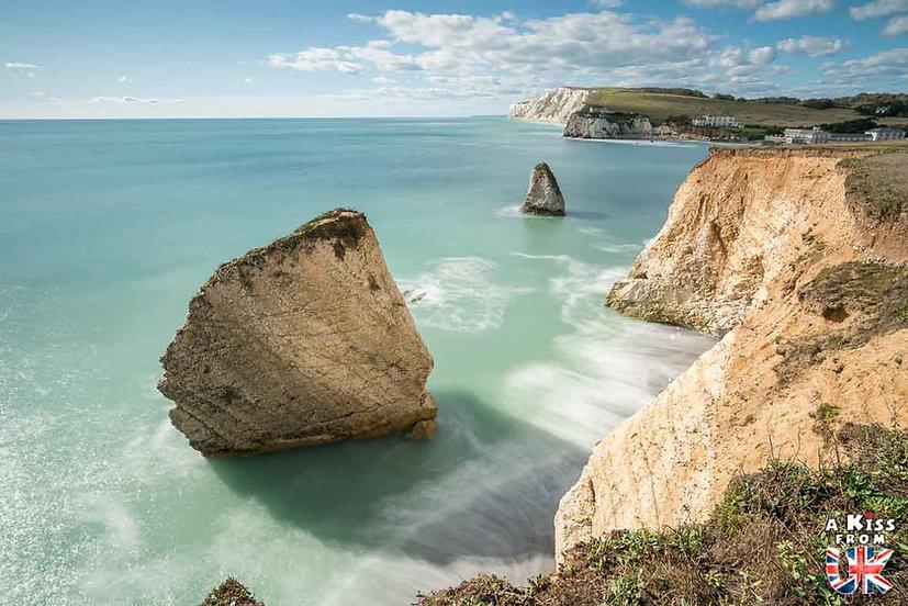 Freshwater Bay - Que faire et que voir sur l'île de Wight en Angleterre ? Visiter l'île de Wight et ses plus beaux endroits avec A Kiss From UK, le blog du voyage en Grande-Bretagne.