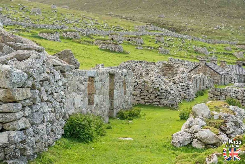 L'ancien village de St Kilda en Ecosse - Visiter St Kilda - Que voir sur l'île de St Kilda en Ecosse ? - A Kiss from UK, le guide et blog du voyage en Ecosse.