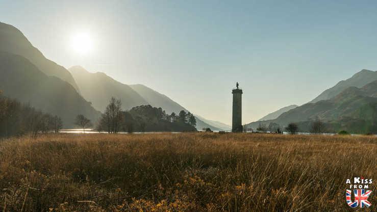 Glenfinnan Monument - A faire et à voir dans le Glencoe et sa région en Ecosse. Visiter le Glencoe avec A Kiss from UK, le guide & blog du voyage en Ecosse, Angletere et Pays de Galles