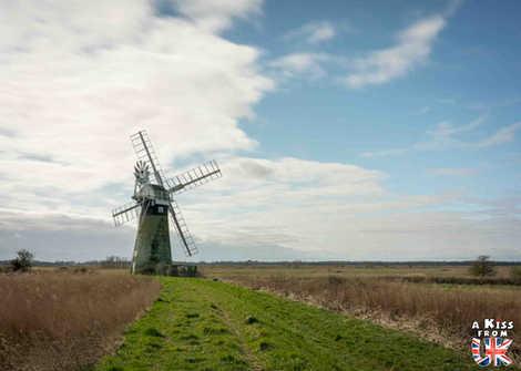 Thurne Mill - Que faire dans le Norfolk en Angleterre ? Visiter le Norfolk et les plus beaux endroits à voir dans le Parc National des Broads avec notre guide complet sur cette région d'Angleterre.