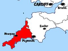 Carte des cornouailles Que voir dans les Cornouailles en Angleterre ? Visiter les Cornouailles avec A Kiss from UK, le blog du voyage en Ecosse, Angleterre et Pays de Galles.
