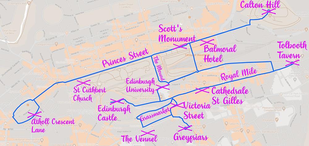 Carte - Les plus belles photos d'Édimbourg de nuit. Visiter Édimbourg la nuit, sortie nocturne à Édimbourg dans les plus beaux endroits et les lieux hantés de la capitale écossaise. Que faire à Édimbourg la nuit ?