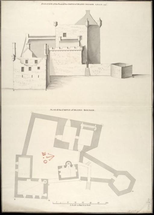 Plan d'Eilean Donan Castle - Eilean Donan Castle, la reconstruction du plus célèbre château d'Ecosse. Découvrez l'histoire du château d'Eilean Donan en Ecosse. | A Kiss From UK