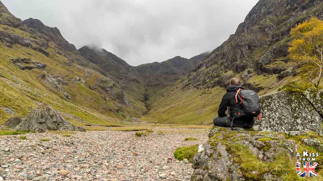 La randonnée de The Lost Valley of Glencoe - A faire et à voir dans le Glencoe et sa région en Ecosse. Visiter le Glencoe avec A Kiss from UK, le guide & blog du voyage en Ecosse.