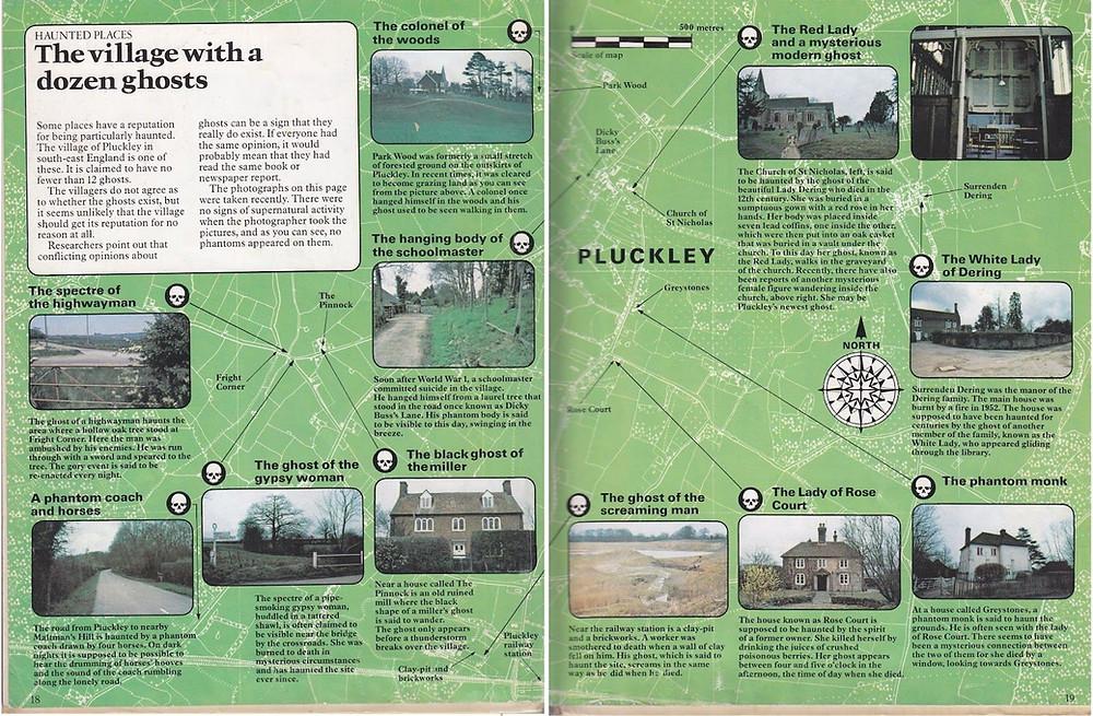 Carte des lieux hantés à Pluckley - Pluckley, le village le plus hanté d'Angleterre. Découvrez ma chasse aux fantômes à Pluckley dans le Kent. | Blog | A Kiss from UK