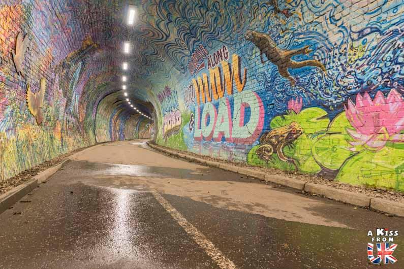 Visite de Colinton Tunnel à Édimbourg - Street Art dans les tunnels abandonnés d'Édimbourg - A Kiss from UK - guide et blog voyage sur l'Ecosse