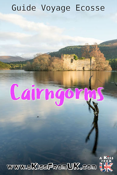A Kiss from UK vous emmène à la découverte des Cairngorms, une région d'Ecosse qui sent bon les Highlands avec ses hautes montagnes et ses lochs splendides ! A Kiss from UK, le guide & blog du voyage en Ecosse, Angleterre et Pays de Galles.
