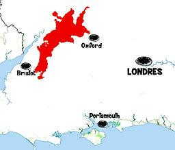 carte Cotswolds - Que voir dans les Cotswolds en Angleterre ? Visiter les Cotswolds avec A Kiss from UK, le blog du voyage en Ecosse, Angletere et Pays de Galles.