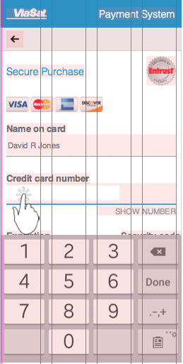 3. Bootstrap mobile cc number
