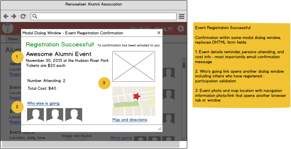 Event Registration success