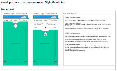 8. greater fidelity annotated wireframe