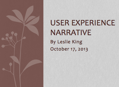 User Experience Narrative