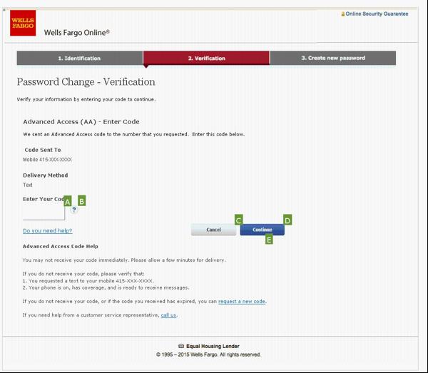 6. PW change - enter AA code