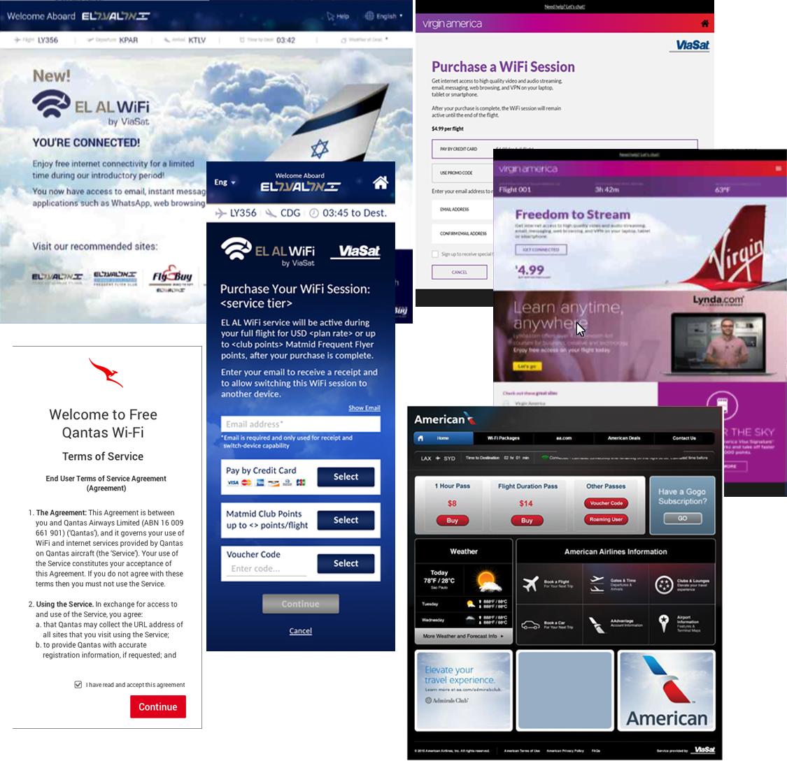 American-EL AL-Qantas-Virgin America
