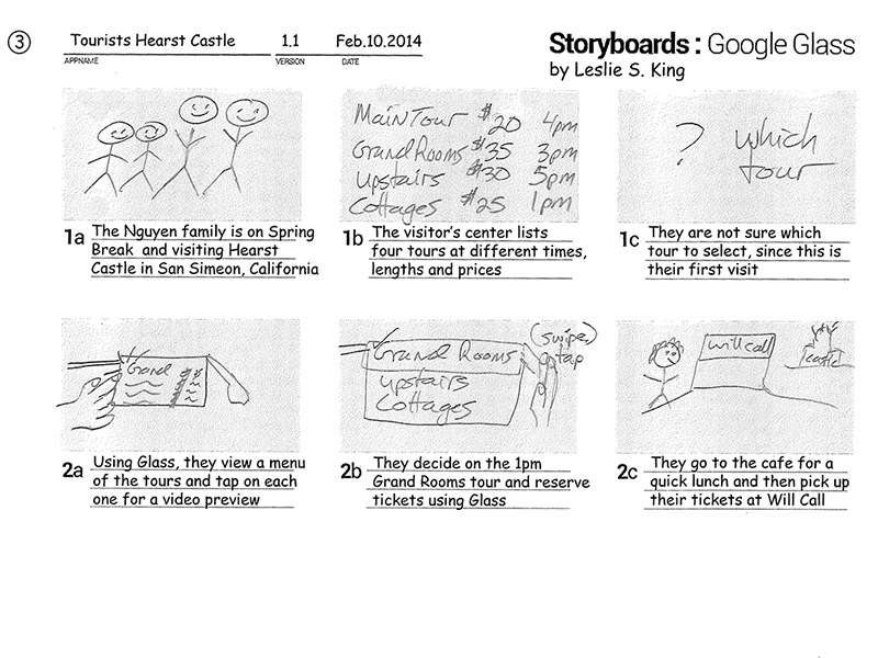 Google Glass storyboards